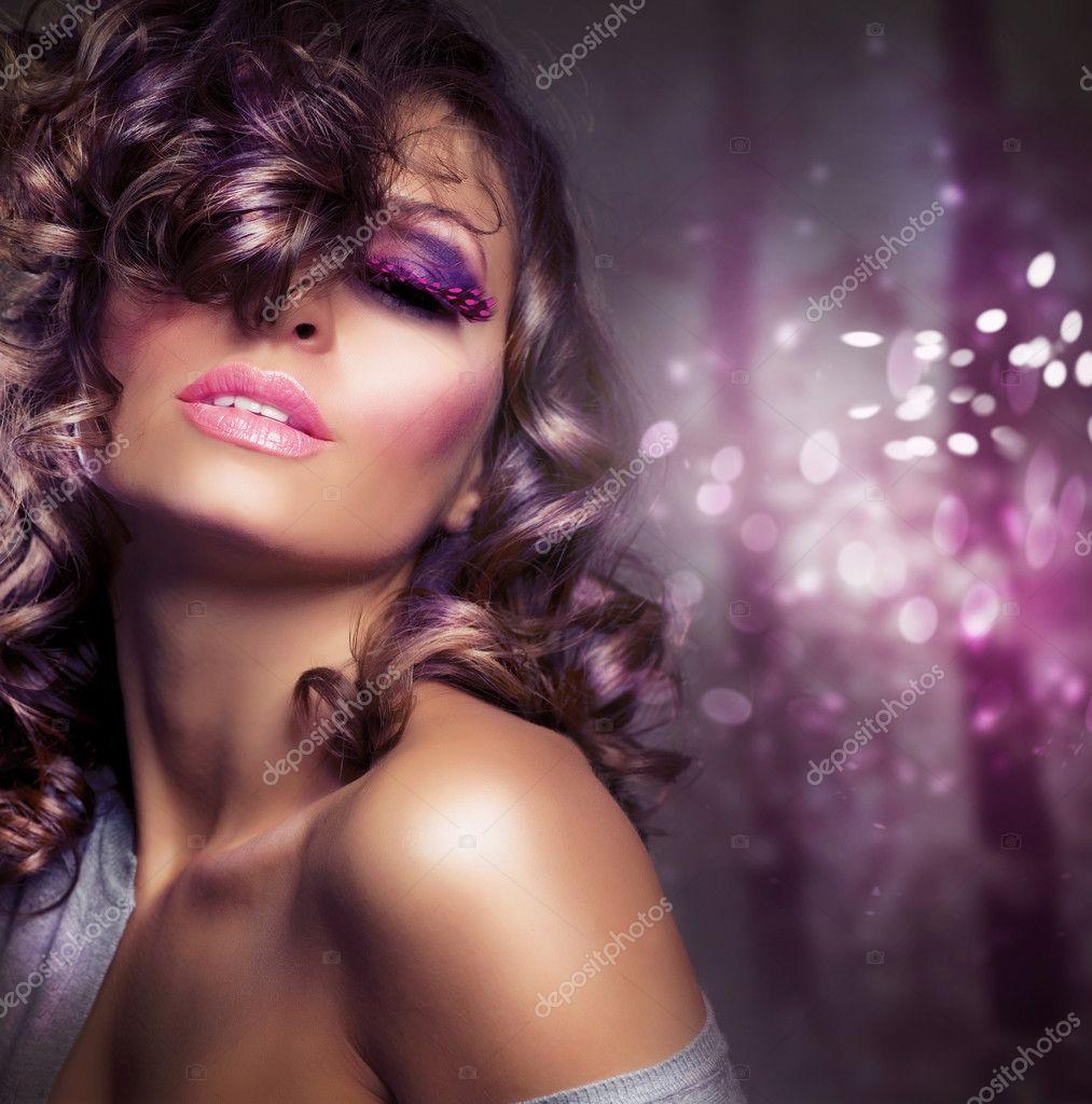 Fashion Beauty Portrait Sexy Girl Holiday Makeup Stock Photo Subbotina 10747736