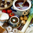 Borsch Ukrayinsky - Stock Photo