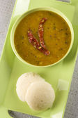 Sambar and idli — Stock Photo