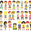 Number kids — Stock Vector