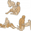 Royalty-Free Stock Vektorov obrzek: Typical sex positions
