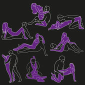 Typical sex positions — Wektor stockowy