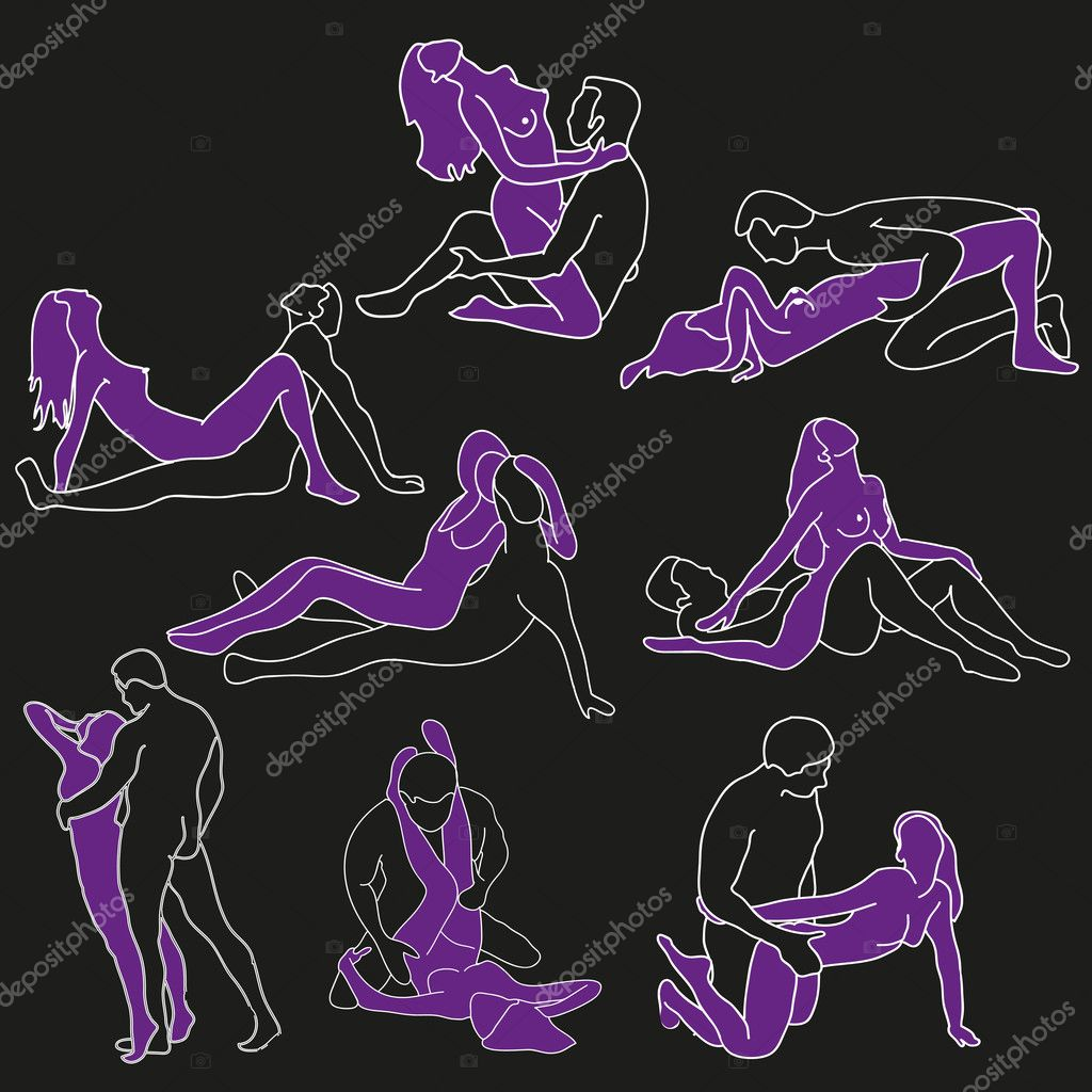 Vector illustration of sexual positions  Stock Vector #10362111