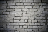 The white brick wall — Stock Photo