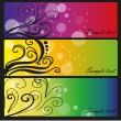 Three colored banners — Stock Vector