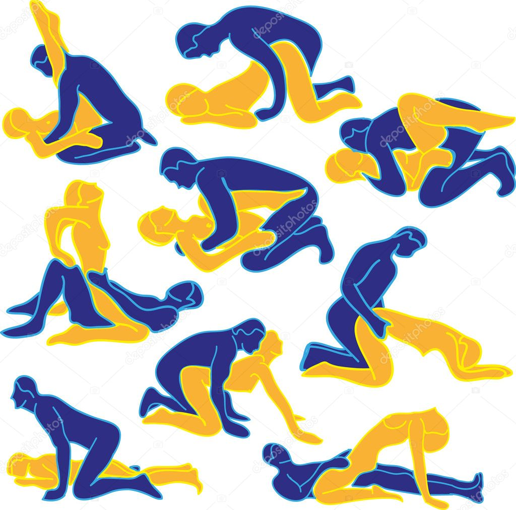 Vector illustration of  sexual positions — Imagen vectorial #9936719