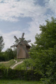 Windmill in summer sunny day — Stock Photo