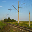Railway in sunny summer day — Stock Photo