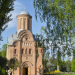 Ancient orthodox church in park — Stockfoto