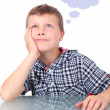 Small boy thinking — Stock Photo