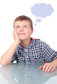 Small boy thinking — Stock Photo