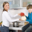 Family cooking — Stock Photo #9655057