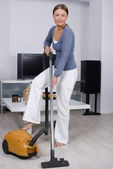 Lady in cleaning — Stock Photo