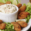 Portuguese cod fish croquettes — Stock Photo