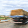 Royalty-Free Stock Photo: Cargo truck over bridge