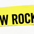"Stock Photo: Clipping ""New Rock Stars"" word on white background"
