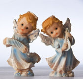 Blue angel figurines — Stok fotoğraf