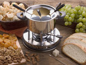 Cheese fondue — Stock Photo