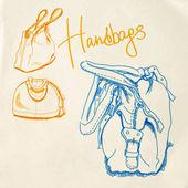 Vector sketch handbags — Stock Vector