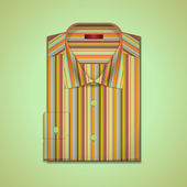 Vector illustration of a striped shirt — Stock Vector