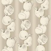 Vector pattern of vintage fruit — Stock Vector