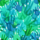 Vector pattern of the palms of hot colors — Stock Photo