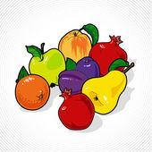 Vector bodegón de frutas — Vector de stock