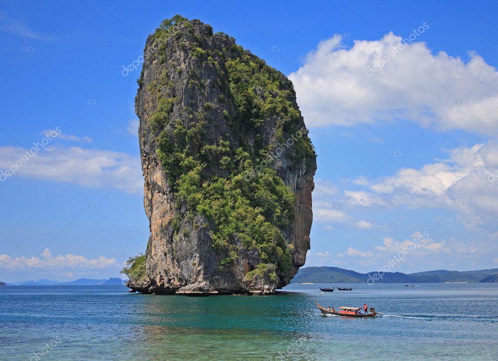 泰国南部海滩,甲波达岛– 图库图片