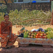Stock Photo: Young fruit seller, Goa, India