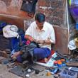 Stock Photo: Shoemaker, India