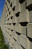Noise barrier for train — Foto Stock