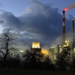 Stock Photo: Chemistry industry at night