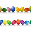 Easter Eggs In A Row — Stock Photo