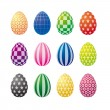 Op Art Easter Eggs - Stock Vector