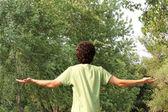 A Spiritual Young Man Worships — Stock Photo