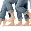 Barefoot Legs in Motion - Stock Photo
