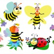 Stock Vector: Funny insects