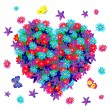 Royalty-Free Stock Vector Image: Heart of flowers