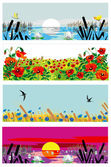 Bright summer banners — Stock Vector