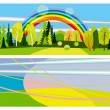 Horizontal summer banners — Stock Vector