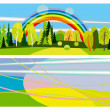 Horizontal summer banners - Stock Vector