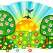 Bright summer meadow — Stock Vector #10685524