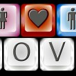 Romance keyboard — Stockvector #9676872
