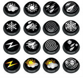 Black weather icons — Stock Vector