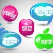 Glass bubbles set for messages — Stockvektor