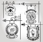 旧街道标志 — 图库矢量图片
