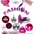 Stock vektor: Vector set of fashion labels