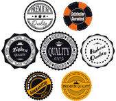 Satisfaction guaranteed and premium quality labels — Stock Vector