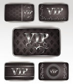 Set of platinum vip cards with pattern — Stock Vector
