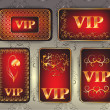 Set of gold vip cards — Stock fotografie